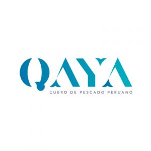 Logo de QAYA cuero de pescado peruano
