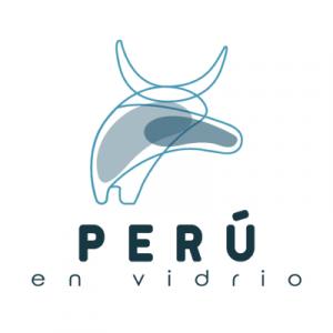 Logo de Perú en vidrio