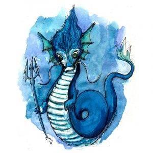 Logo de Dragón de Agua